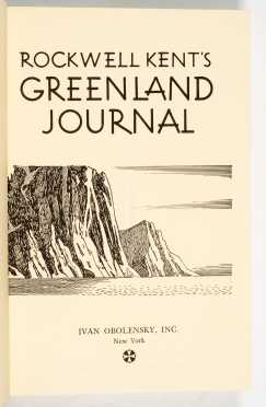 Rockwell Kent's Greenland Journal, Signed
