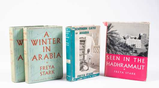 Freya Stark, Four First Editions with Dust Jackets
