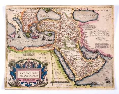 Map of the Turkish Empire: Ortelius, Turcici Imperii Descriptio