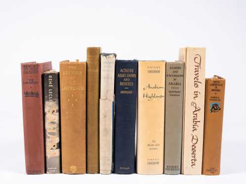 Ten Books on the Desert Countries Including James Doughty, T.E. Lawrence