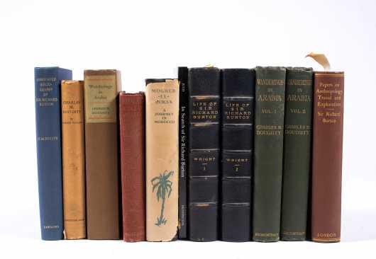 Nine Books on the Desert Countries Including Richard Burton