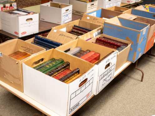 One Hundred and Twenty-Three Leather-Bound Easton Press Books