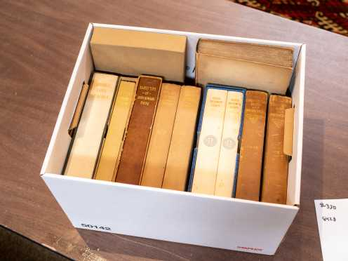 Box of Bibliophile Society Books