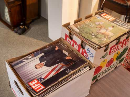 Two Boxes of Life Magazines