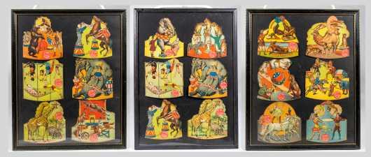 "Eighteen Framed Circus ""NY Hippodrome"" Souvenirs"