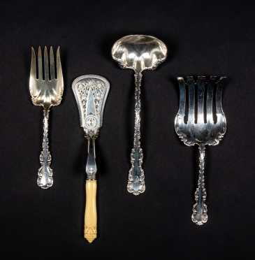 Lot of Sterling Silver Serving Pieces and Sheffield Asparagus Server