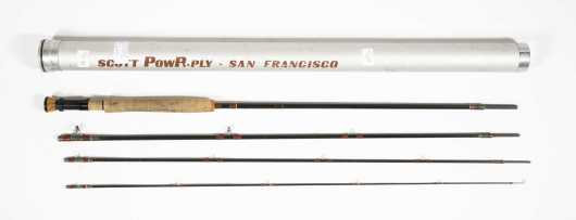 "Early San Francisco Manufacture Scott G Series ""PowR-Ply"" 10' 4 ounce Four Piece Graphite Rod for #8 Line"