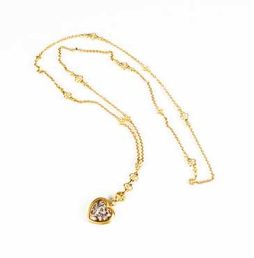 SeidenGang 18K Two Tone Gold and Diamond Necklace