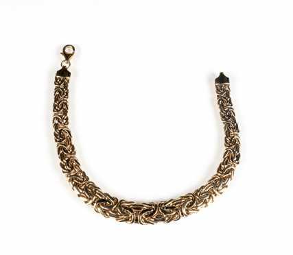 Byzantine Graduated Yellow Gold Bracelet