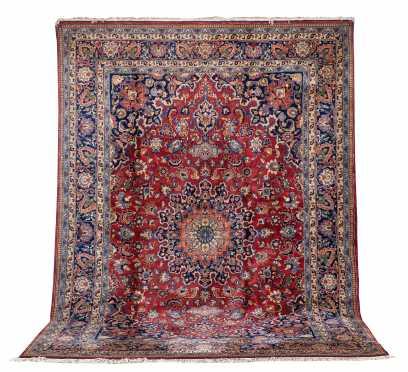 Pakistani Antique Sarouk Style Room Size Rug