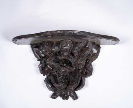 Black Forest Carved Hanging Shelf