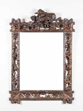 Black Forest Carved Mirror