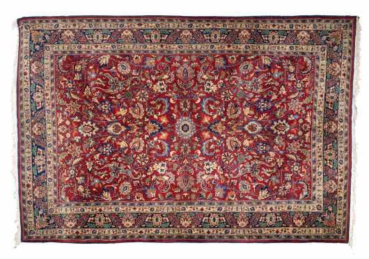Pakistani Tabriz Small Room Size Oriental Rug