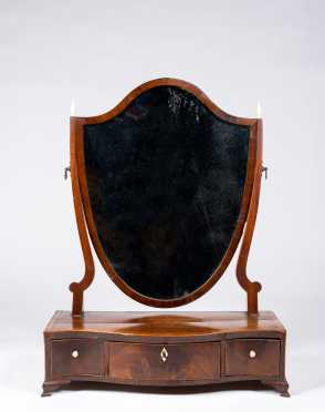 English Regency Mahogany Dressing Mirror