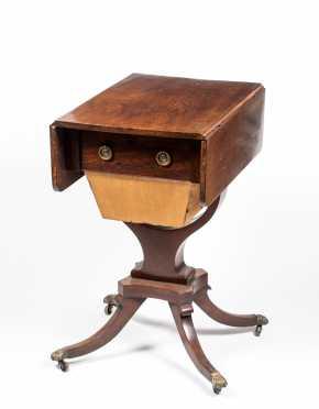 English Regency Mahogany Sewing Table