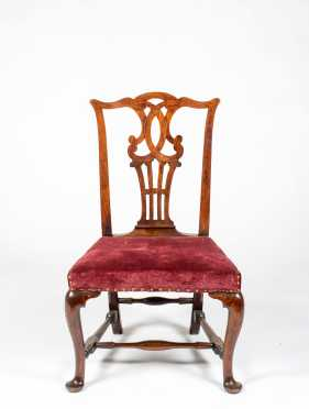 Queen Anne Chippendale Walnut Side Chair