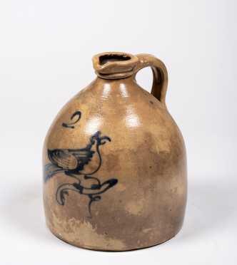 Haxstun Ottman & Co. Stoneware Bird Pouring Jug