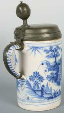 Blue and White Delft Tankard