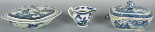 Lot of Chinese Export Blue and White China