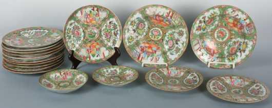 Lot of Rose Medallion Plates