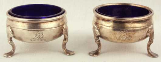 Pair of Sheffield Silver Plate English Salts