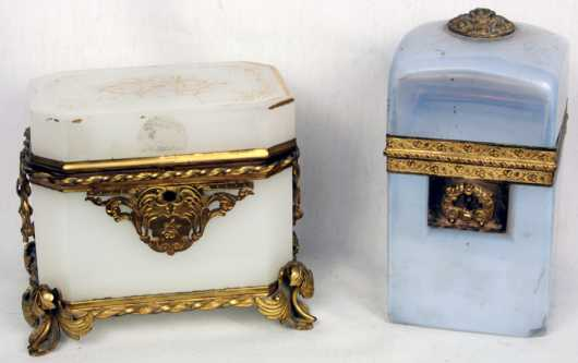 Two French Glass Boxes