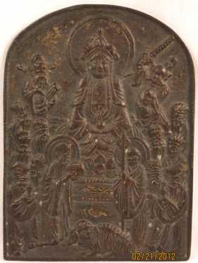 Buddhist Bronze Votive plaque