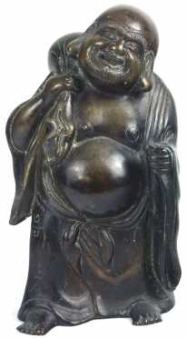 Bronze Casting of the Laughing Buddha of Safe Travel