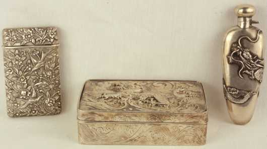 Three Oriental Silver Items