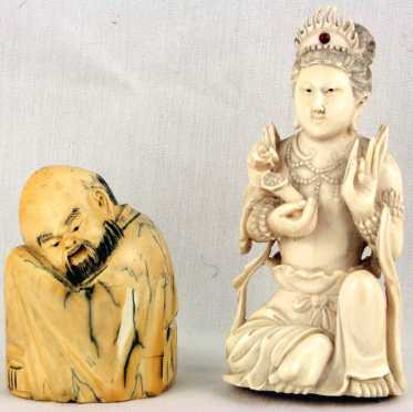 Two Asian Ivory Carvings