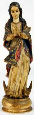 18th century Indo-Portuguese Goa Figure of Mary