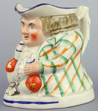 English Staffordshire Toby Pitcher