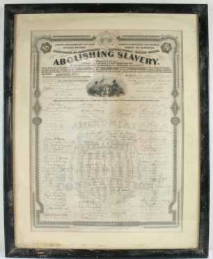 """Abolishing Slavery Document, early copy of the """"Joint resolution of the 38th Congress"""""""