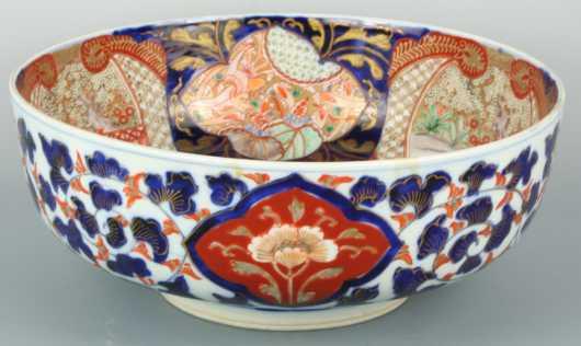 Imari Porcelain Punch Bowl