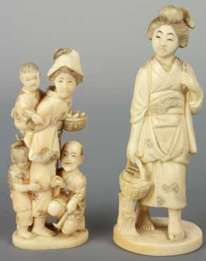 Two Japanese Ivory Carvings