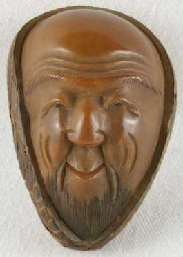 Carved Nut Katabori Netsuke