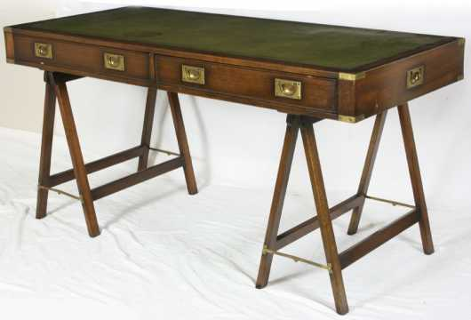 Modern Campaign Style Desk and Chair