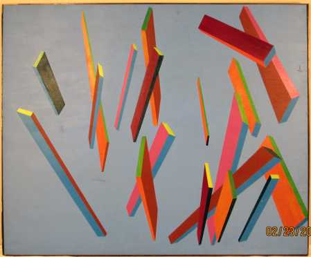 Peter Busa, abstract oil on canvas