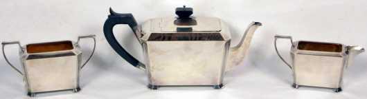 Art Deco English Silver Tea Set., S. Blanchensee & Son Ltd