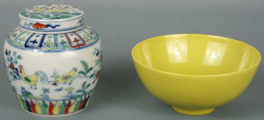 Chinese Porcelain, 2 pieces