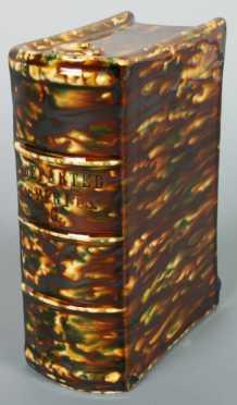 Bennington Pottery Book Form Flask