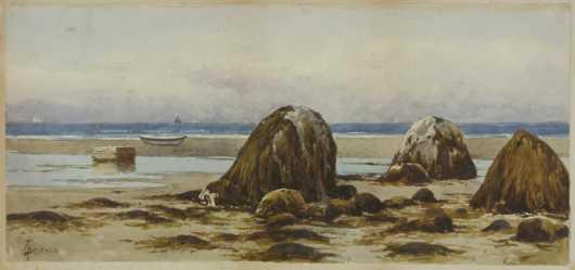 Alfred Thomas (AT) Bricher, watercolor
