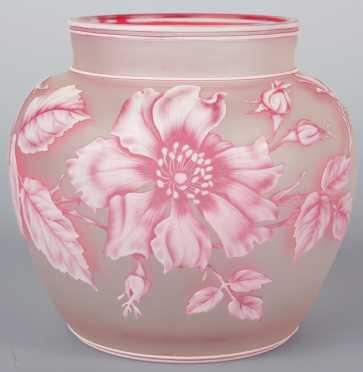 Webb Glass Vase, attributed
