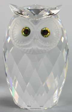 Swarovski Cut Crystal Owl
