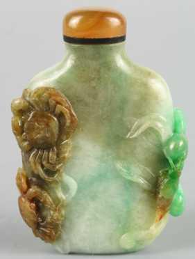 Carved Jade Snuff Bottle