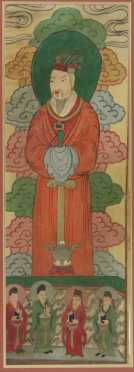 Chinese Watercolor of a Male Ancestor