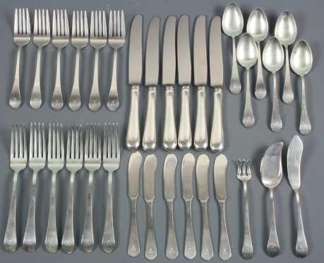 Tuttle Sterling Silver Flatware, service for 6