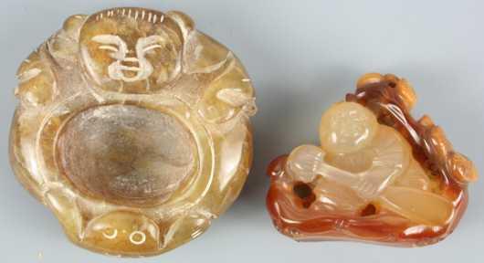 Two Miniature Jade Carvings