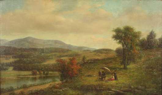 Robert Spear Dunning,  oil on canvas landscape