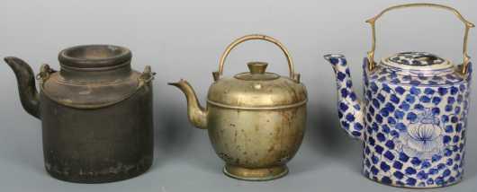 Three Japanese/Chinese Tea Pots